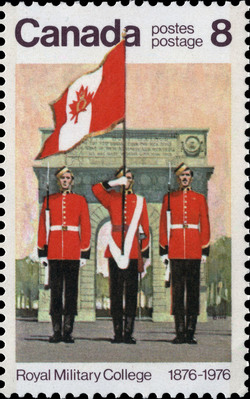 Colour Party Canada Postage Stamp   Royal Military College, 1876-1976