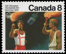 Flame Ceremony Canada Postage Stamp | 1976 Olympic Games, Ceremonies