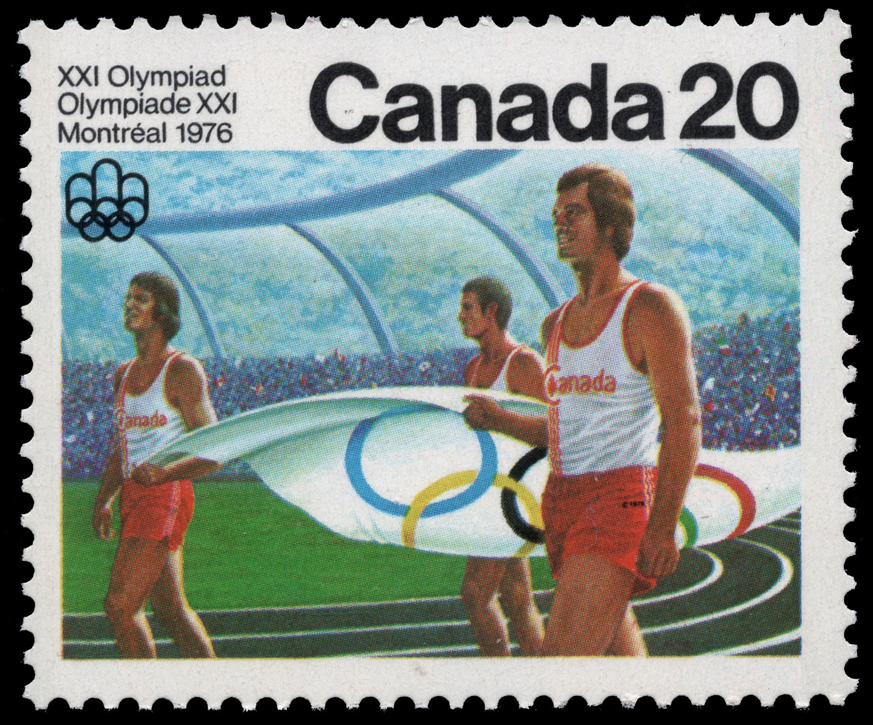 Opening Ceremony Canada Postage Stamp | 1976 Olympic Games, Ceremonies