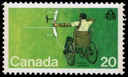 Olympiad for the Physically Disabled Canada Postage Stamp
