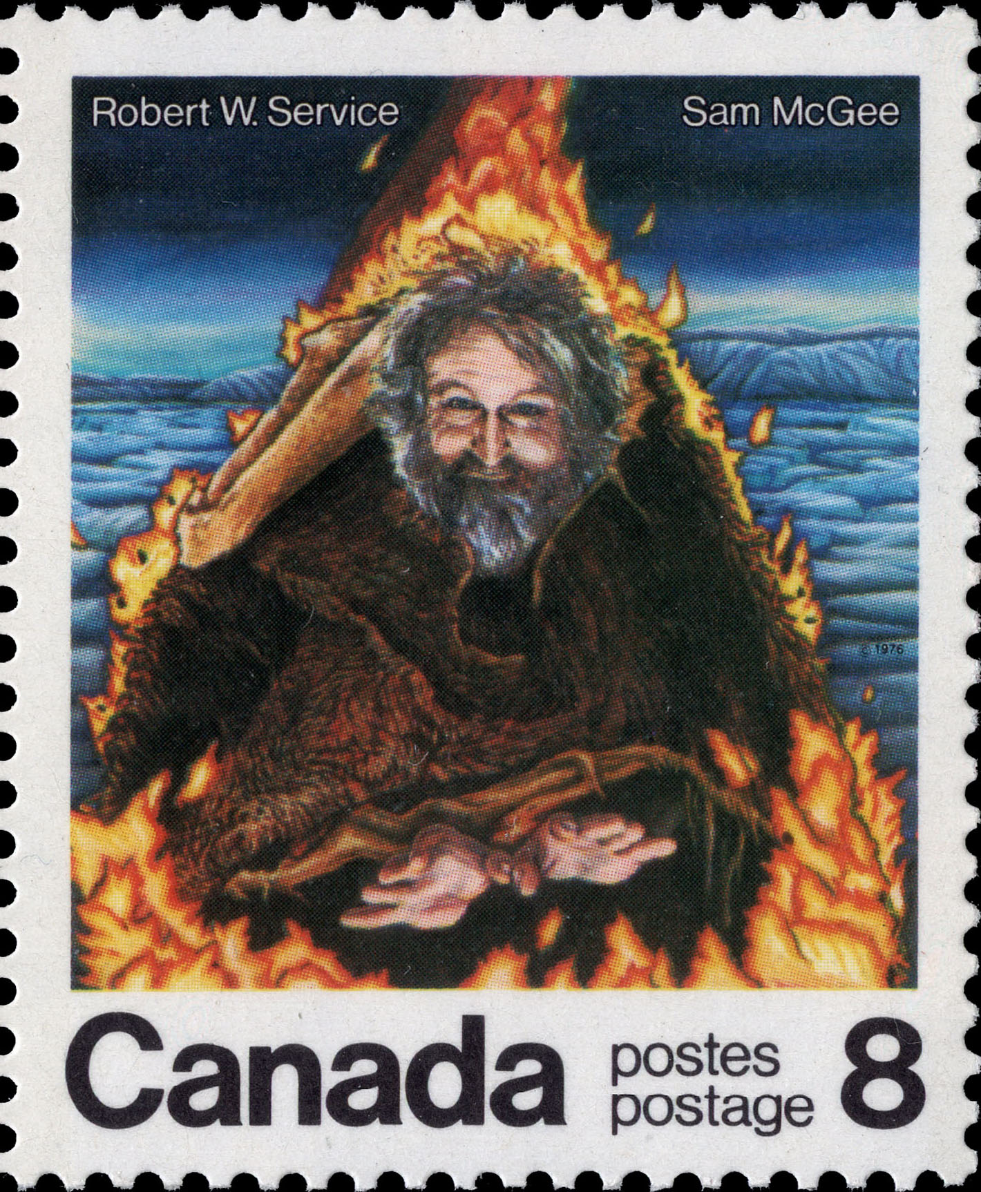 Robert W. Service, Sam McGee Canada Postage Stamp