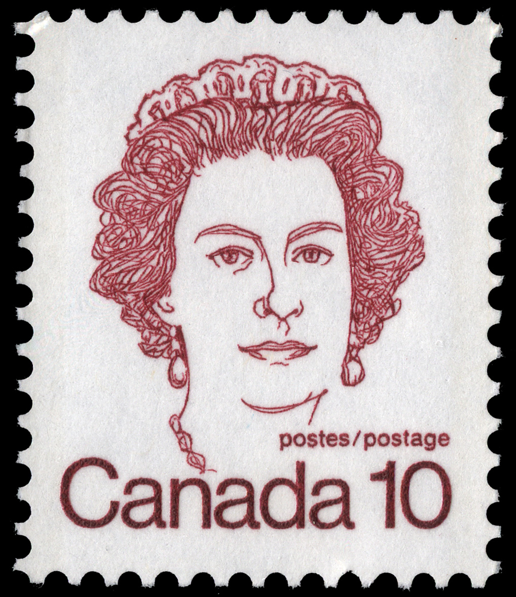 Queen Elizabeth II Canada Postage Stamp | Caricature Definitives