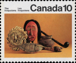 Artifacts Canada Postage Stamp | Indians of Canada, The Iroquoians