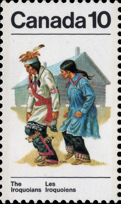 Ceremonial Costume Canada Postage Stamp | Indians of Canada, The Iroquoians