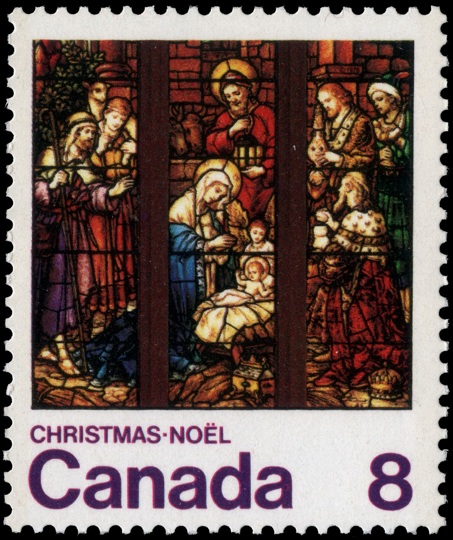 Nativity Canada Postage Stamp | Christmas, Stained Glass Windows
