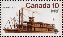 Northcote Canada Postage Stamp | Ships of Canada, Inland Vessels