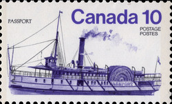 Passport Canada Postage Stamp | Ships of Canada, Inland Vessels