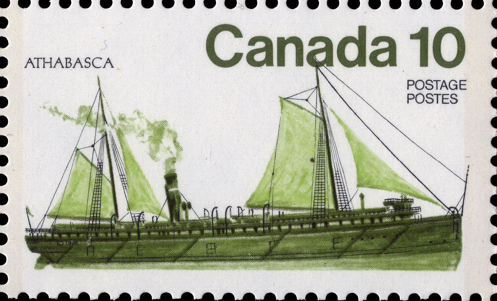 Athabasca Canada Postage Stamp | Ships of Canada, Inland Vessels