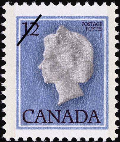 Queen Elizabeth II Canada Postage Stamp