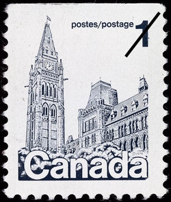 Parliament Buildings Canada Postage Stamp | Parliament Buildings