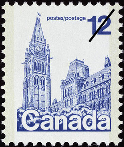 Parliament Buildings Canadian Postage Stamp Series