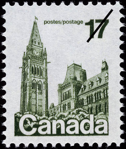 Parliament Buildings Canada Postage Stamp | Parliament Buildings