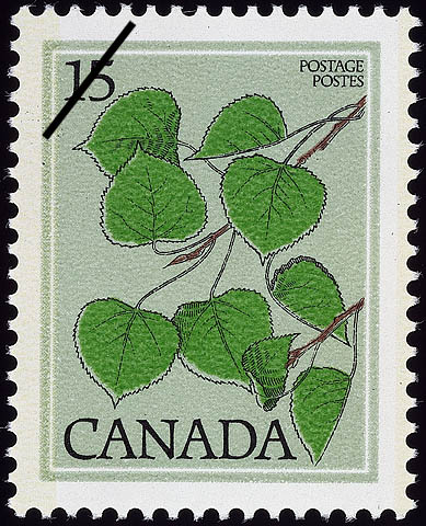 Trembling Aspen, Populus tremuloides Canada Postage Stamp | Trees of Canada