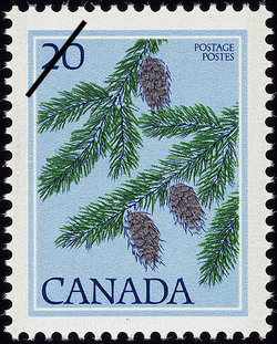 Douglas Fir, Pseudotsuga menziesii Canada Postage Stamp | Trees of Canada