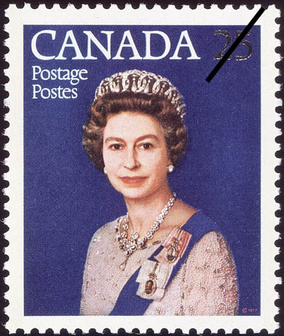 Queen Elizabeth II, Silver Jubilee Canada Postage Stamp