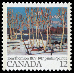 April in Algonquin Park Canada Postage Stamp | Tom Thomson, 1877-1917, Painter