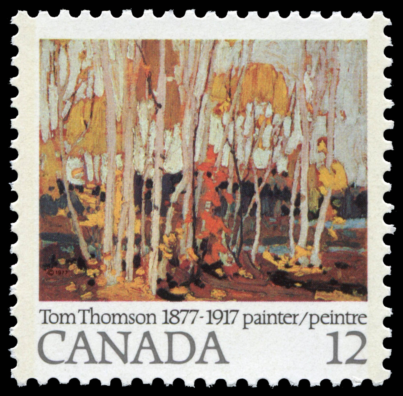 Autumn Birches Canada Postage Stamp