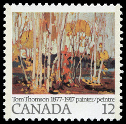 Autumn Birches Canada Postage Stamp | Tom Thomson, 1877-1917, Painter