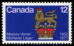 Canadian Governors General, 1952-1977, Massey, Vanier, Michener, Leger Canada Postage Stamp