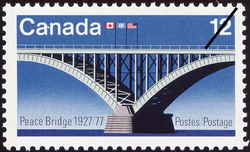 Peace Bridge, 1927-1977 Canada Postage Stamp