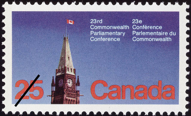 23rd Commonwealth Parliamentary Conference Canada Postage Stamp