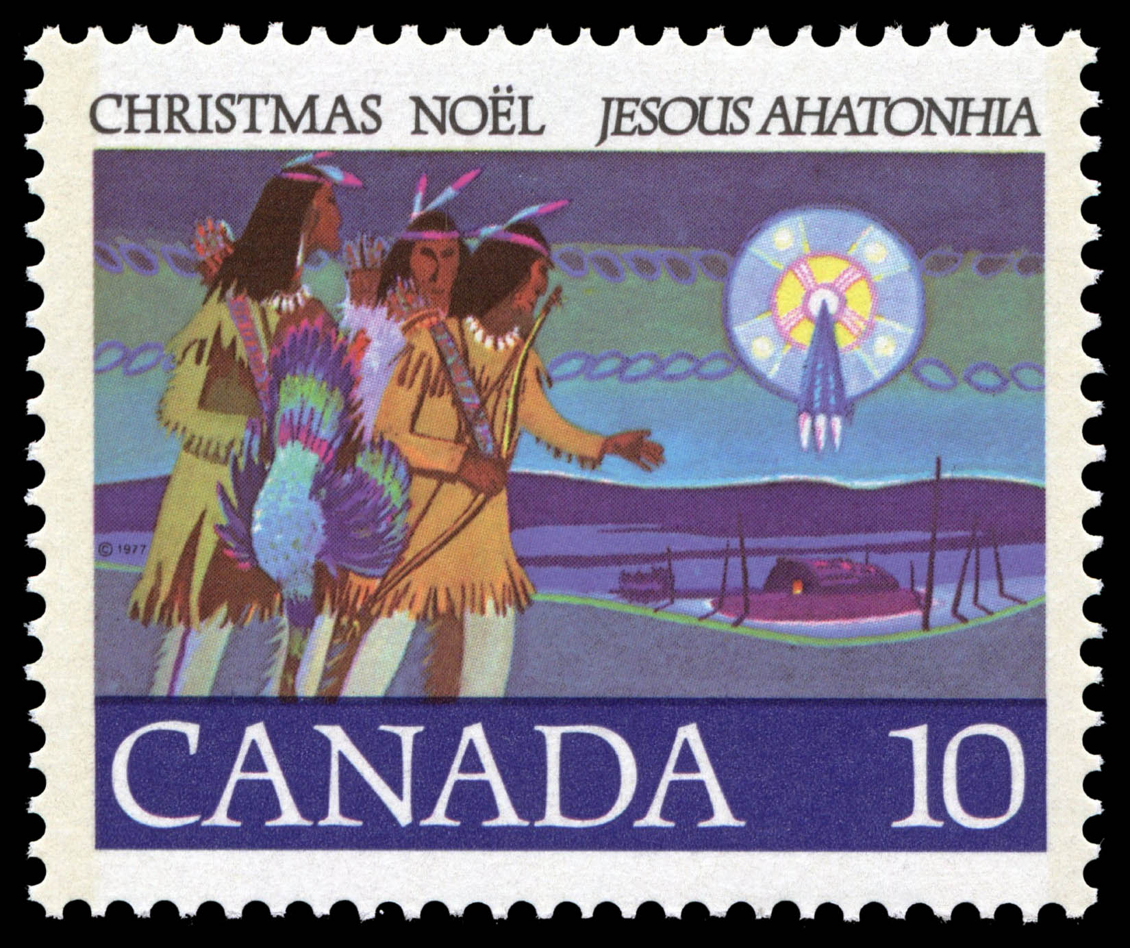 Hunter Braves Canada Postage Stamp | Christmas, Jesous Ahatonhia