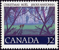 Angel Choir Canada Postage Stamp | Christmas, Jesous Ahatonhia