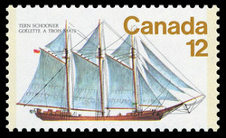 Tern Schooner Canada Postage Stamp | Ships of Canada, Sailing Vessels