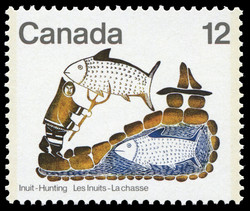 Fisherman's Dream Canada Postage Stamp   Inuit, Hunting