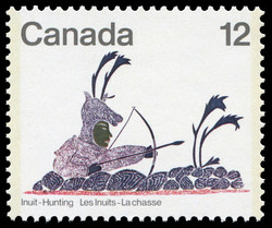 Disguised Archer Canada Postage Stamp | Inuit, Hunting
