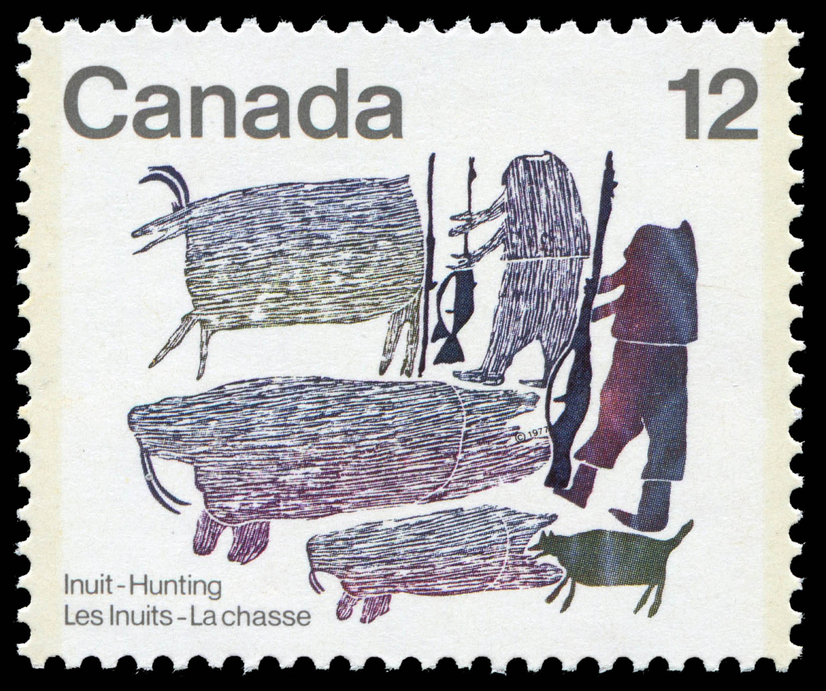 Hunters of Old Canada Postage Stamp