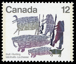 Hunters of Old Canada Postage Stamp | Inuit, Hunting