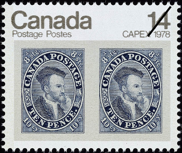 10d Jacques Cartier Canada Postage Stamp