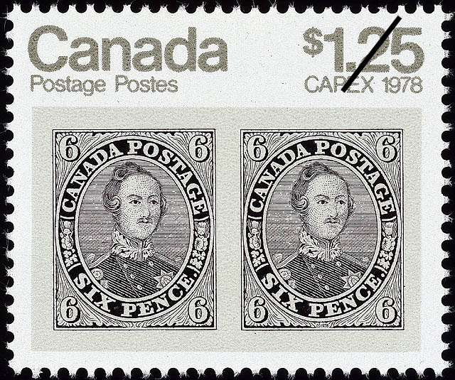 6d Prince Albert Canada Postage Stamp