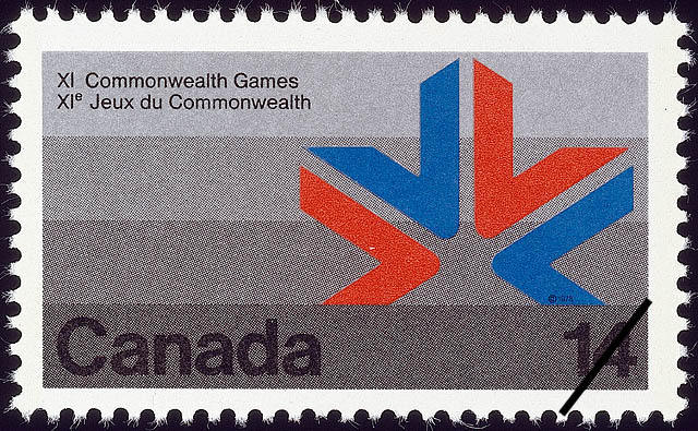 Games Symbol Canada Postage Stamp
