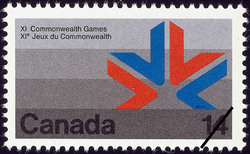 Games Symbol Canada Postage Stamp | XI Commonwealth Games