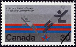 Badminton Canada Postage Stamp | XI Commonwealth Games