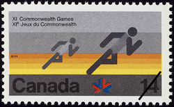 Running Canada Postage Stamp | XI Commonwealth Games