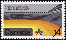 Stadium Canada Postage Stamp | XI Commonwealth Games