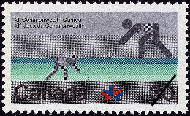Bowls Canada Postage Stamp | XI Commonwealth Games