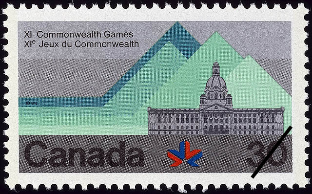 Edmonton Canada Postage Stamp | XI Commonwealth Games