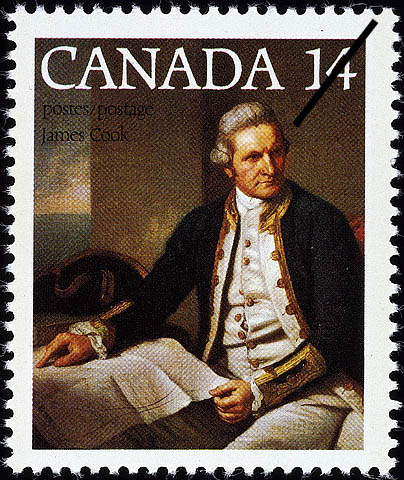 James Cook Canada Postage Stamp