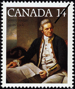 Captain James Cook Canadian Postage Stamp Series
