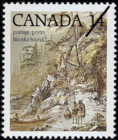 Nootka Sound Canada Postage Stamp | Captain James Cook