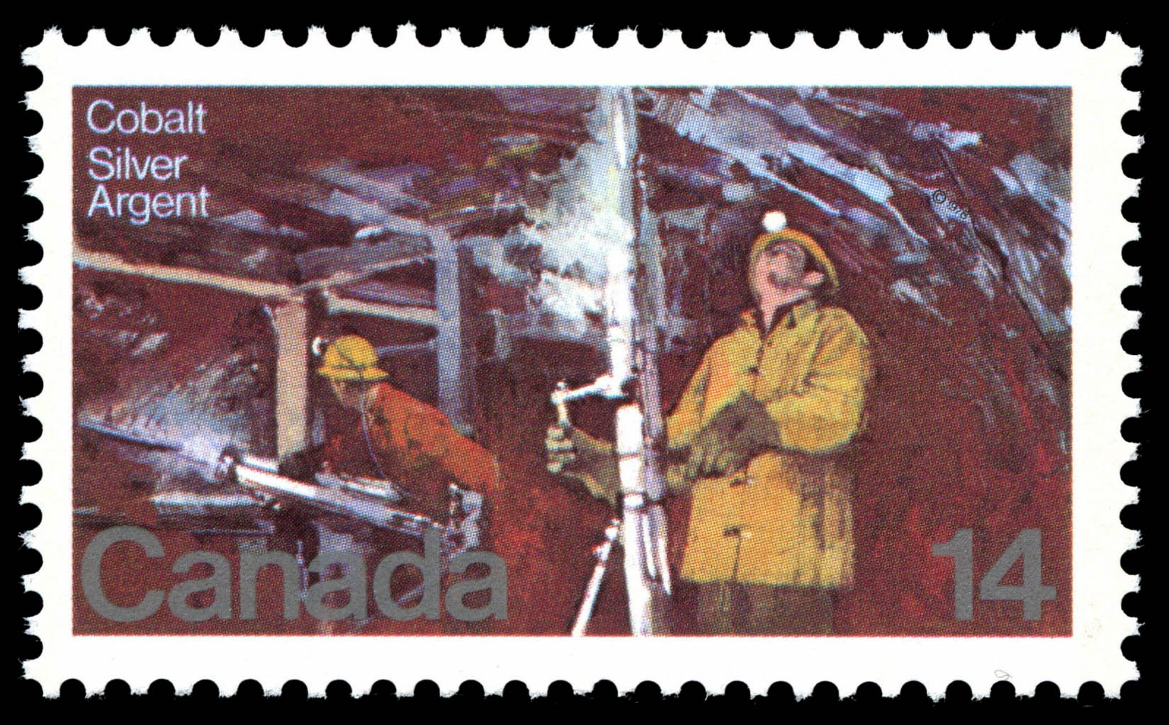 Silver Mines of Cobalt Canada Postage Stamp | Resources