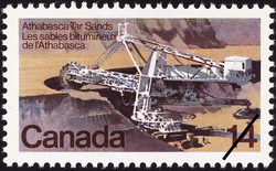 Athabasca Tar Sands Canada Postage Stamp | Resources