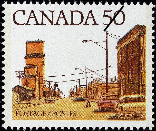Prairie Street Scene Canada Postage Stamp