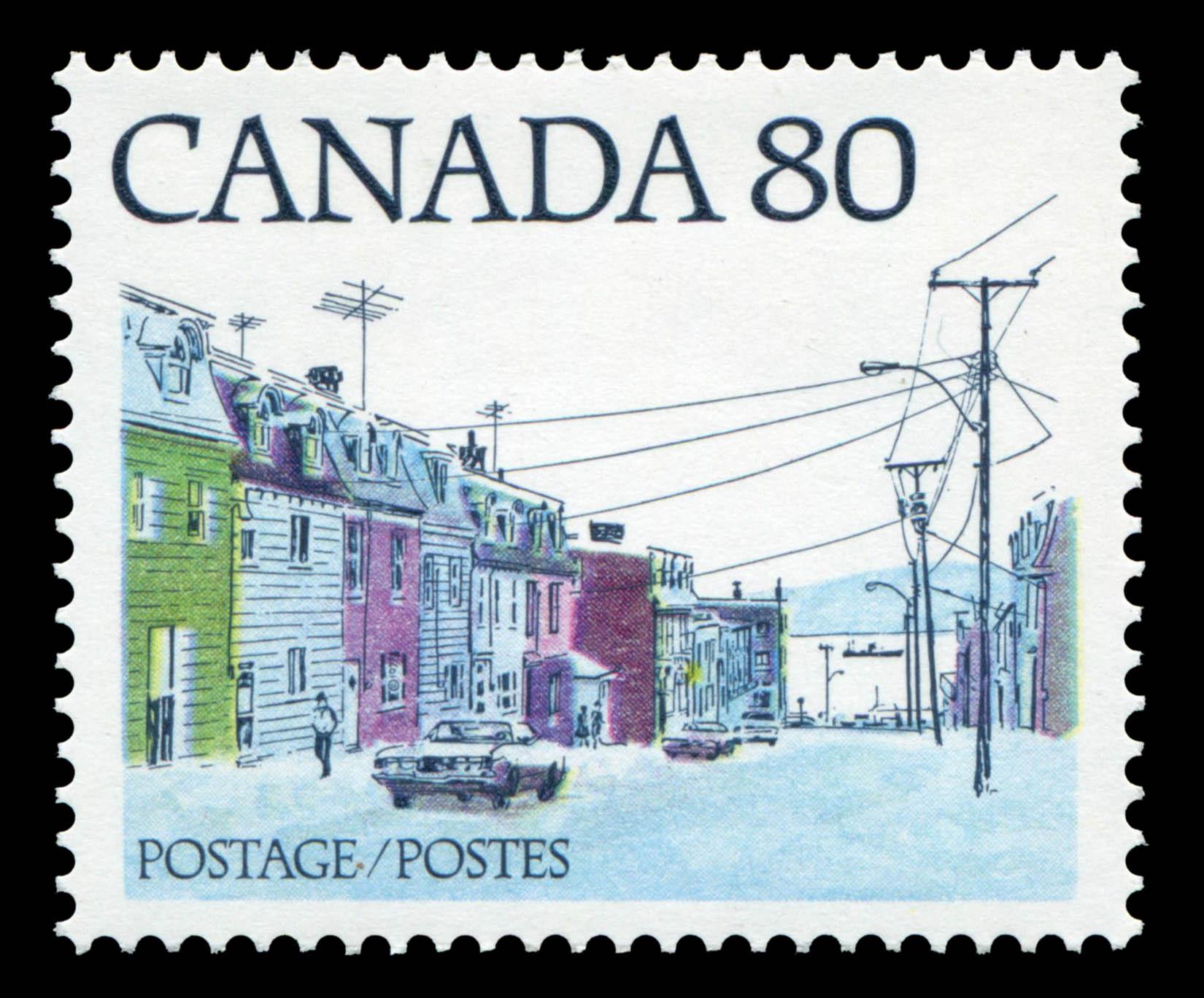 Atlantic Coast Street Scene Canada Postage Stamp | Streets of Canada