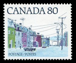 Atlantic Coast Street Scene Canada Postage Stamp | Streets of Canada
