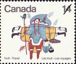 Woman Walking Canada Postage Stamp | Inuit, Travel